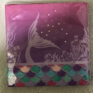 Party Supplies - Mermaid Party Starter Kit Plates Napkins and Cover
